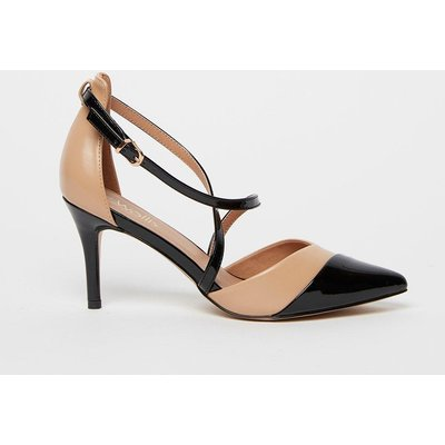 The Sophisticated Heels To Add To Your Collection. A Chic Camel Hue Keeps These Easy To Pair, Whilst A Pointed Toe And Adjustable Cross Strap Design Keep This Pair Contemporary And Practical.  Heel Height: 80Mm Standard Fit Heeled Shoe 100% Polyurethane.