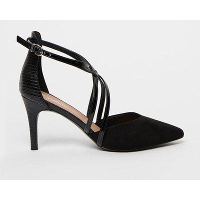 Cross Strap Court Shoe