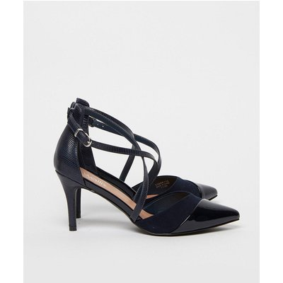 Curly Cross Strap Court Shoe