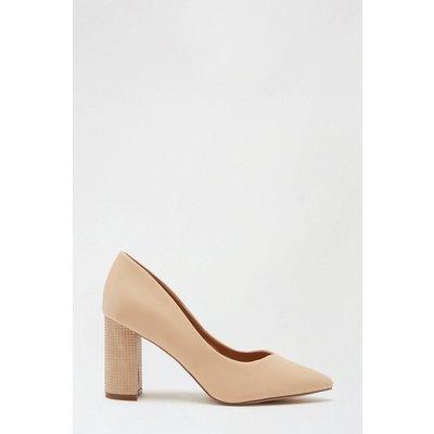 Wildrose Block Heeled Court Shoe