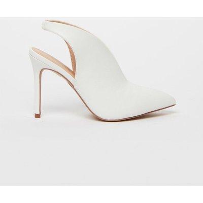 White Slingback Shoe Boot