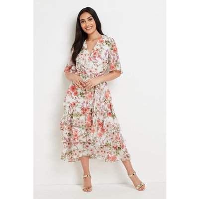 Petite Tiered Floral Dress