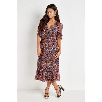 Paisley Midi Tea Dress