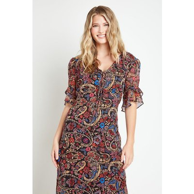 Tall Paisley Midi Tea Dress