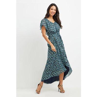 Spot Cape Sleeve Dress