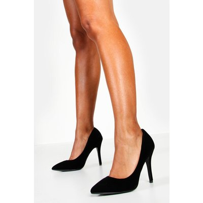 Womens Pointed Court Shoes - black - 3, Black