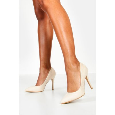 Womens Pointed Court Shoes - Beige - 8, Beige