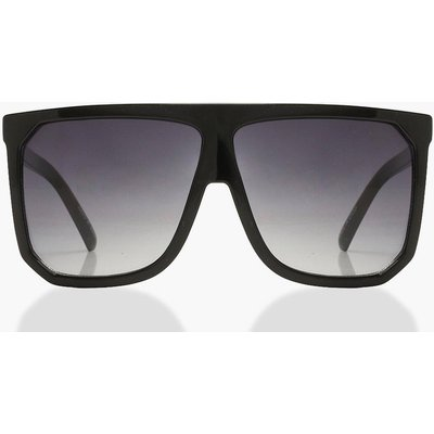 Womens Flat Top Oversized Sunglasses - black - One Size, Black
