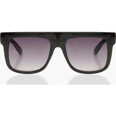 Womens Oversized Square Plastic Sunglasses - black - One Size, Black