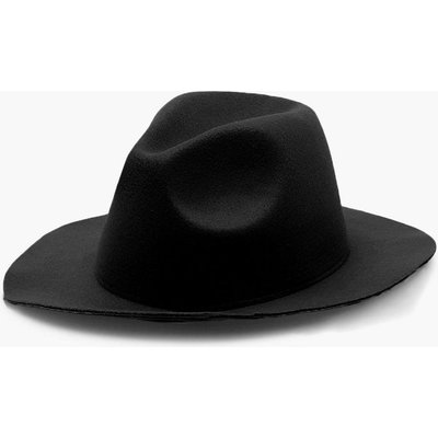 Womens Fedora Hat - black - One Size, Black