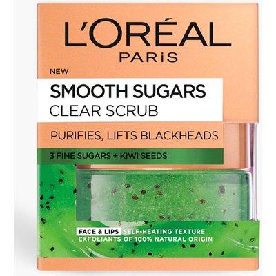 Womens L'Oreal Paris Smooth Sugar Face & Lip Scrub - green - One Size, Green