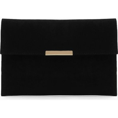 Womens Envelope & Bar Clutch Bag - black - One Size, Black