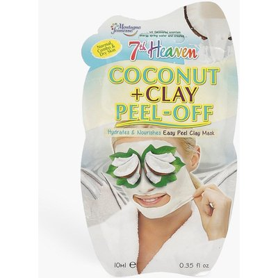 Womens Coconut & Clay Peel Off Face Mask - white - One Size, White
