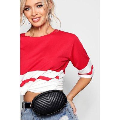 Womens Quilted Belt Bag - black - One Size, Black