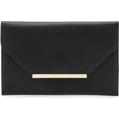 Womens Crosshatch Clutch Bag - black - One Size, Black