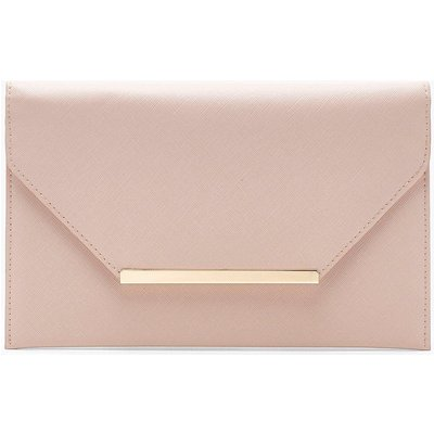 Womens Crosshatch Clutch Bag - Beige - One Size, Beige