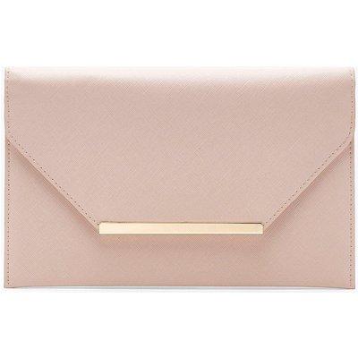 Womens Crosshatch Clutch Bag - Beige - One Size, Beige