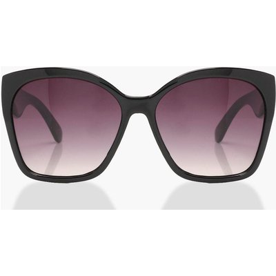 Womens Oversized Sunglasses - black - One Size, Black