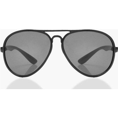 Womens Oversized Aviator Sunglasses - black - One Size, Black