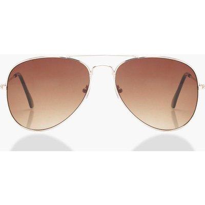 Womens Aviator Sunglasses - brown - One Size, Brown