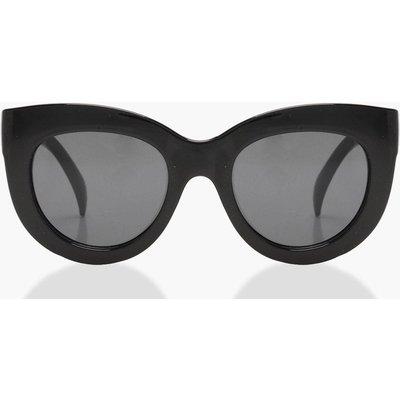 Womens Oversized Cat Eye Sunglasses - black - One Size, Black