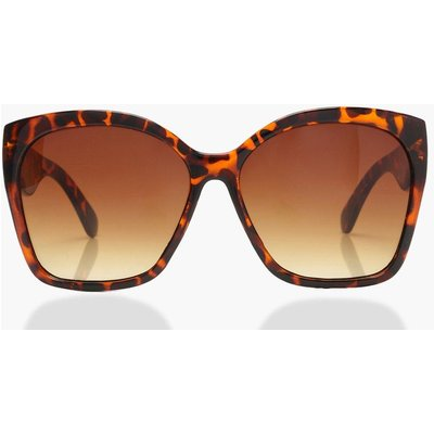 Womens Oversized Tortoiseshell Sunglasses - brown - One Size, Brown