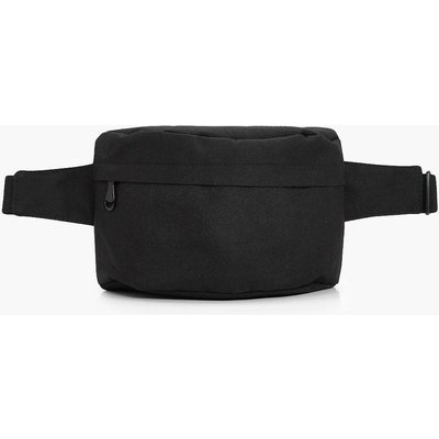 Womens Black Canvas Bumbag - One Size, Black
