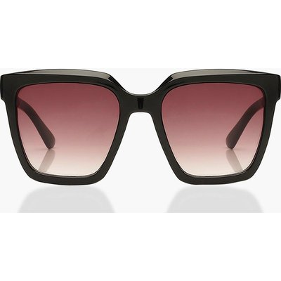 Womens Chunky Square Oversized Sunglasses - Black - One Size, Black