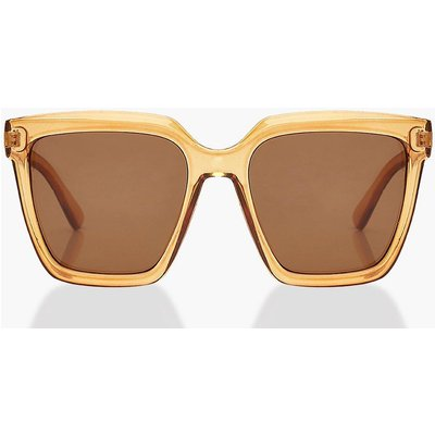 Womens Chunky Square Oversized Sunglasses - Orange - One Size, Orange