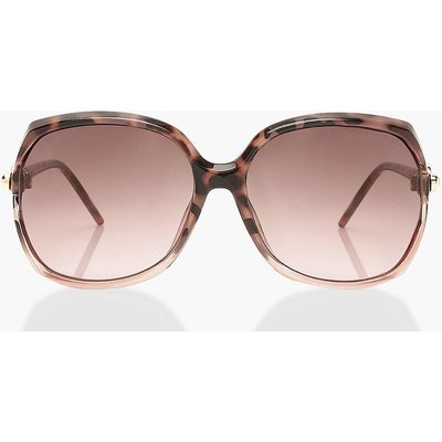 Womens Tortoise Shell Detail Oversized Sunglasses - Pink - One Size, Pink