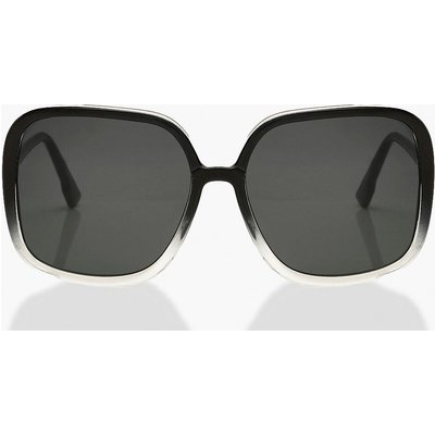 Womens Gradient Frame Oversized Sunglasses - Black - One Size, Black
