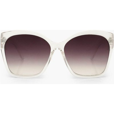 Womens Oversized Sunglasses - White - One Size, White