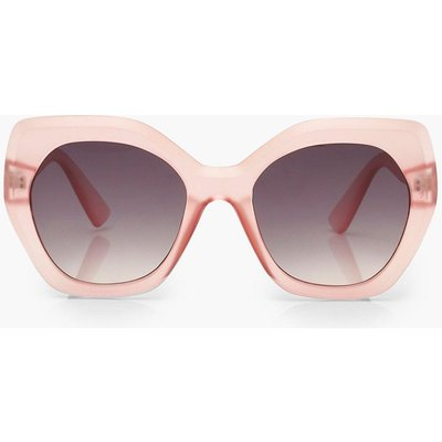 Womens Frosted Oversized Sunglasses - Pink - One Size, Pink