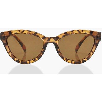 Womens Tortoiseshell Chunky Oversized Sunglasses - brown - One Size, Brown