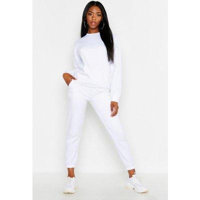 Womens Basic Regular Fit Joggers - White - 14, White