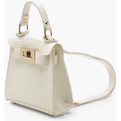Womens Croc Micro Mini Rucksack - white - One Size, White