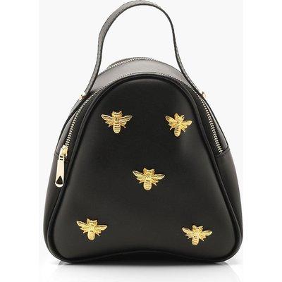 Womens Metal Bee Mini Rucksack - black - One Size, Black
