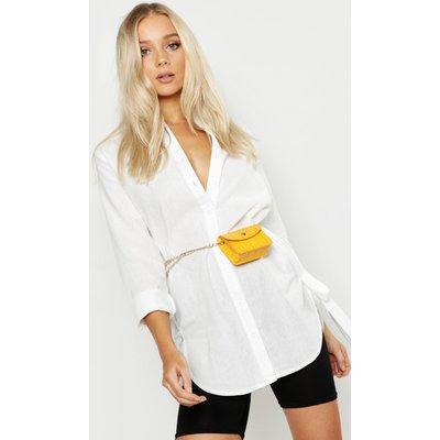 Womens Mini Croc Chain Belt Bag - yellow - One Size, Yellow