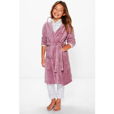 Mouse Hooded Robe - mink