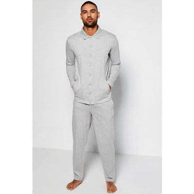 Through Polo Lounge Set - grey