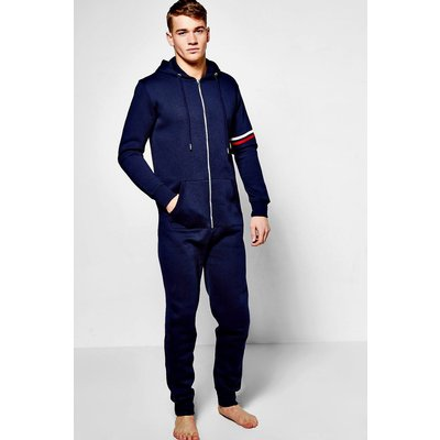Detail Hooded Onesie - navy