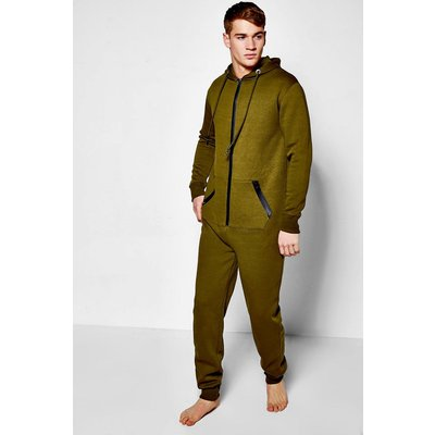 Zip Hooded Oneise - khaki