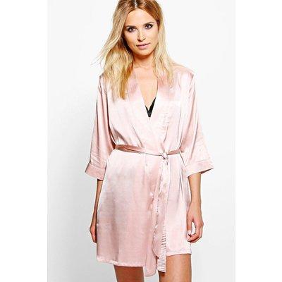 Tie Waist Kimono Robe - rose gold