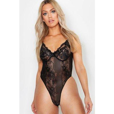 Womens Plus Lace Bodysuit - black - 24, Black