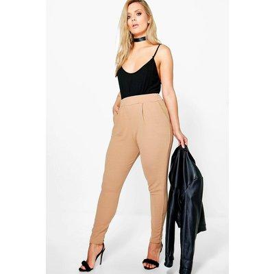 Womens Plus Pleat Front Trouser - beige - 16, Beige