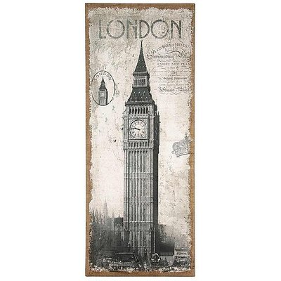 London Oblong Wall Canvas