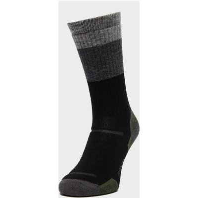 Point6 Hiking Stripe Medium Socks, Black