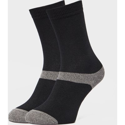 Peter Storm Unisex Multiactive Coolmax Liner Socks - 2 Pack - Black, Black