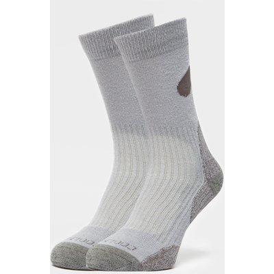 Peter Storm Light Outdoor Sock - Twin Pack - Grey, Grey