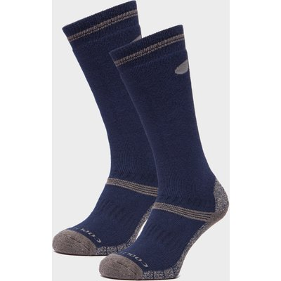 Peter Storm Midweight Knee Length Socks - 2 Pack - Navy, Navy